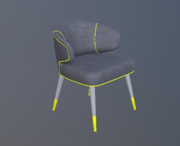 新古典绒布休闲椅2