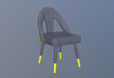 新古典绒布休闲椅3