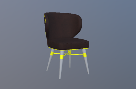 新古典绒布休闲椅4