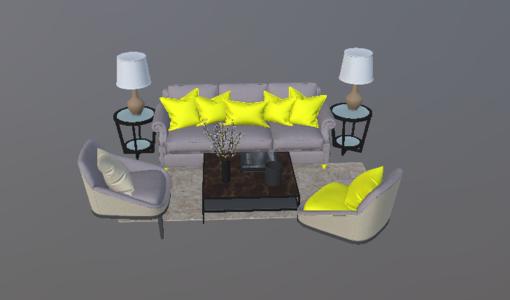美式沙发组合