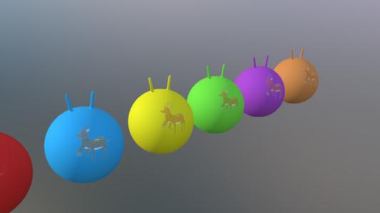 小鹿羊角球